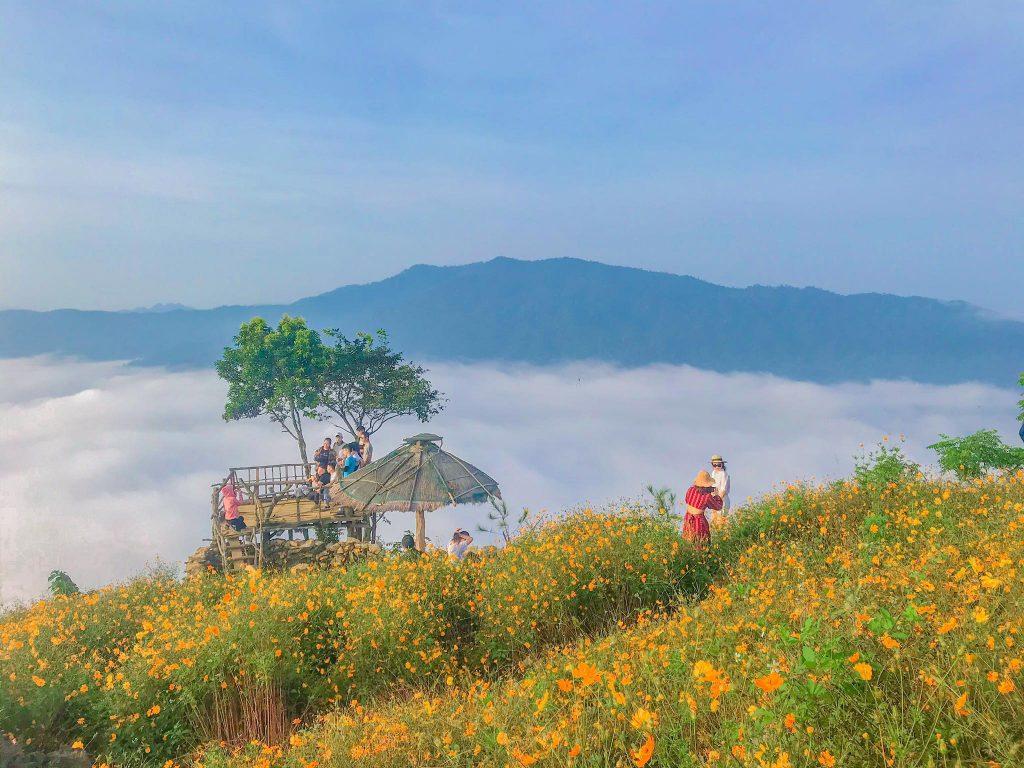 Thả hồn vào cánh đồng hoa dại giữa biển mây ở Hang Kia