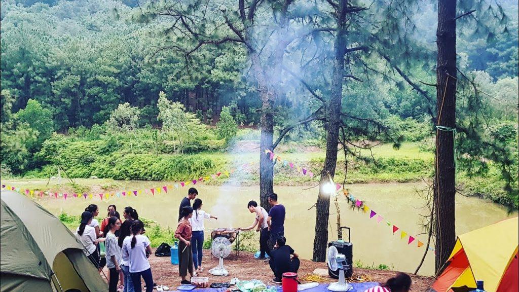 Cắm trại tại Hàm Lợn