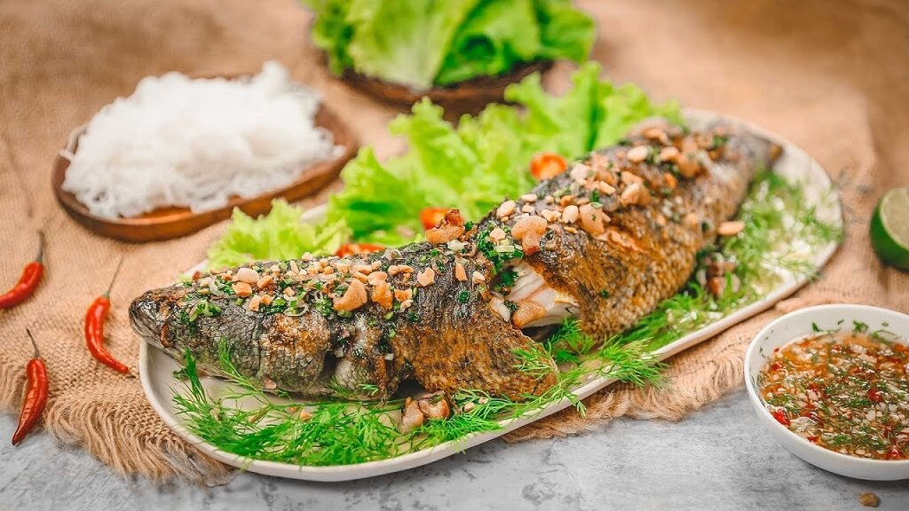 đặc sản Ninh Bình cá chuối Vân Long
