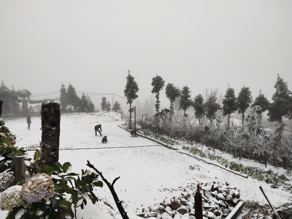 Ngày đông trắng xóa trên Si Ma Cai