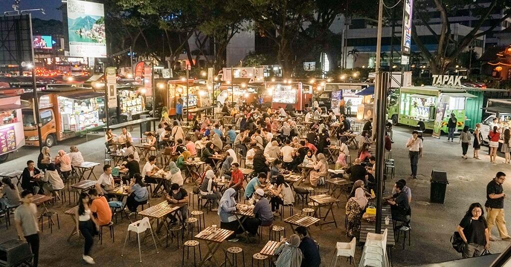 Phố Tapak, chợ đường phố Malaysia